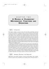 CH2 Review of elementary mathematics