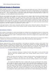 Ethics in Business Environment System- Ethics.docx