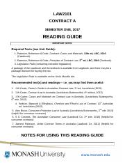 Contract A 2017 Reading Guide