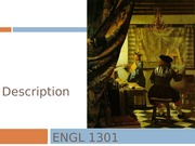ENGL 1301 PowerPoint 5 Description