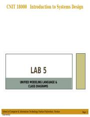 Lab 5 - Unified Modeling Language & Class Diagrams