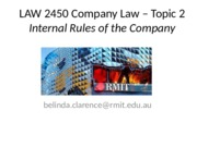 W2 Internal Rules of Company