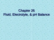 fluid, electrolyte and pH balance