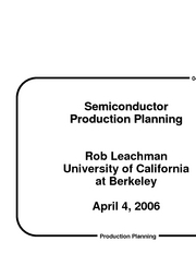 4-4-06 Semiconductor Production Planning