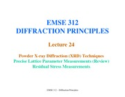 Lecture24-XRD-PreciseLatticeParameterMeasurements