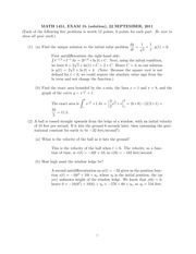 MATH 1451 Fall 2011 Midterm 1 Version 2 Solutions
