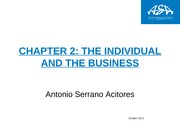 Chapter 2 The individual and the business