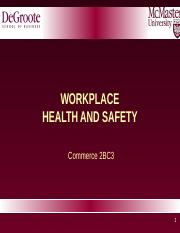 2BC3+2016+Lecture+9+-+Health+and+Safety