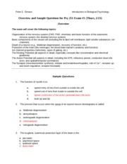 Psy 251Spring 2012 Sample Questions for Exam 1