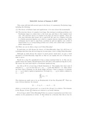 Review of the behavior of closed algebraic sets