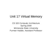 CS 320 Unit 17 Virtual Memory