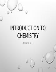 Chapter 1 - Introduction to Chemistry.pptx