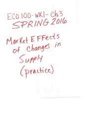ECO100-Wk1-Ch3-practice homework-Market effects of changes in supply