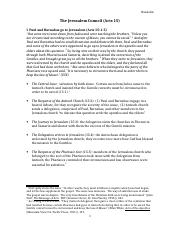Council of Jerusalem Acts 15 (CM Handout)