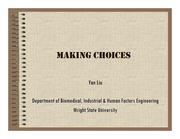 Lecture Notes on  Making Choices