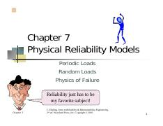 Chapter 7 Part II Physical Reliability Models