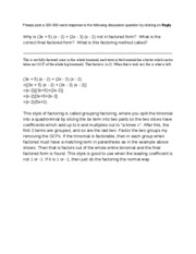 math 116 discussion question 2 week 3 Quizlet provides math 115 activities, flashcards and games start learning today for free counting numbers (1,2,3,4,5,6) are also a subset of integers.