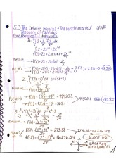 5.3 The Definite integral and the fundamental theorem of calculus notes