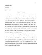COLLEGE WRITING {NEW ONE}