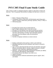 psyc 305 exam 1 study guide Psyc 305 community support pamphlet  psyc 305 case study assessment paper next psyc 305 addiction paper  cjus 321 exam 1 $299.