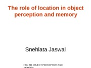 OPM - Location in object perception and memory