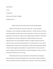a comparison of moral views essay