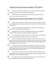 American Government Notes
