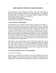 Handout 1 - Some Essential Features of Indian Philosophy - Copy.doc