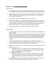 Obligations and contracts 1