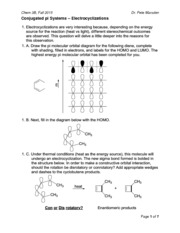 Conjugated Pi Systems - Electrocyclizations (Chem 3B - Fall 2015)