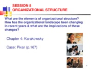 Lecture 5 Organizational Structure