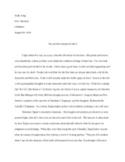 Final essay - Poe and the Analytical Mind