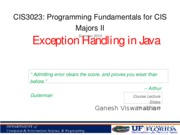 JavaExceptions