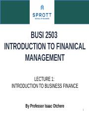 Lecture 1 Introduction to Business Finance (2)