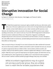 SGM3511-Disruptive Innovation for Social Change
