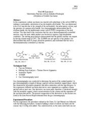 reaction iodoethane with saccharin an ambident