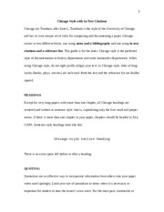 Chicago In-Text Style (Class Notes)