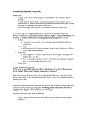 Introductory Reflective Essay Info