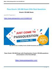 Passquestion Oracle 1Z0-808 exam questions.pdf