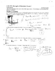 CEE 372 Exam 1 Solution