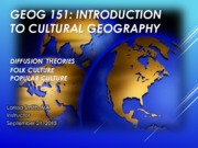 GEOG151- Lecuture DIFFUSIONTHEORIES