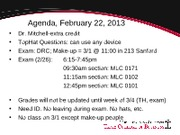MGMT 4010 - Feb. 22 Review