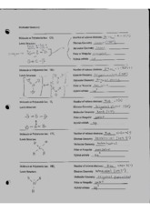 Electron and molecular geometry 1