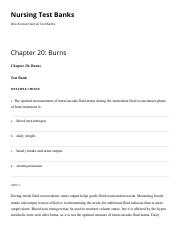Chapter 20 Burns Nursing Test Banks.pdf