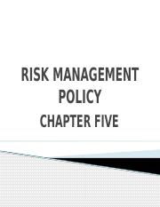 05. RISK MANAGEMENT POLICY - CHAPTER 05.pptx