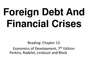 Topic11_Foreign Debt And Financial Crises