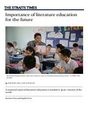 importance of literature in education