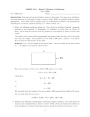 Exam 3 Version 1 Solutions