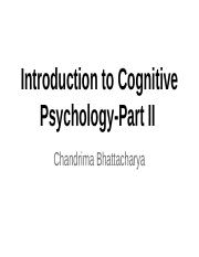 cognitive psychology chapter 1 part III (1)