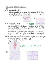 HW03 Solutions- First Order linear equations